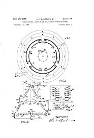 Wiring diagrams motor large size patent us3221233 single winding multi phase speed drawing connection of contactor