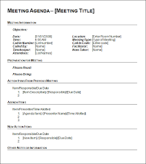 agenda template for word creative meeting agenda forms templates in word vlcpeque
