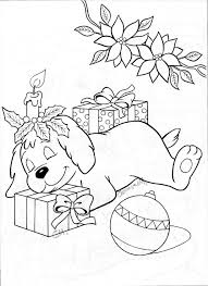 Puppy With Presents Christmas Colorschristmas Funchristmas