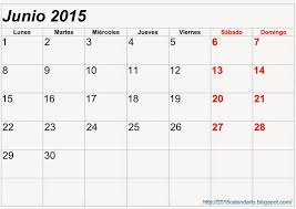 Calendario Junio 2015 Para Imprimir Calendario 2015 Para Imprimir