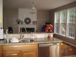 Perfect Kitchen Wall Colors With Oak Cabinets Family Room And Sort Of Run Together On Design Ideas