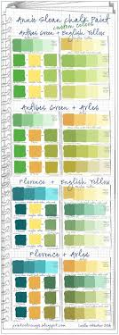 Annie Sloan Chalk Paint Mixing Chart Annie Sloan Chalk Paint Green Custom Color Swatches