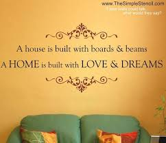 house warming gift ideas with vinyl es lettering a house if built with boards and dreams but a home is built with love