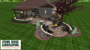 patio with fire pit and pergola. Fire-Pit-Patio-Pergola-Sitting-Walls Patio With Fire Pit And Pergola T