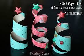 Paper Crafts For Christmas Toilet Paper Roll Christmas Trees Reading Confetti