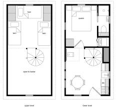 12x20 tiny house floor plans elegant 12 24 twostory 5