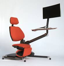 futuristic office chair. Futuristic Desk And Chair Station Is Fully Adjustable For Working While Lying Down Office I
