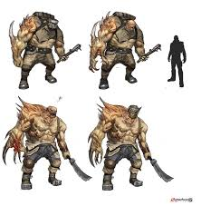Goliath Designs Concept Art For Borderlands 2 For Enemy Goliath First