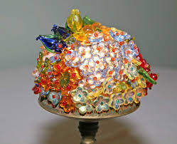 Glass Globe With Flowers 780196 Figural Art Deco Lamp
