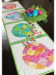 Free Table Runner Patterns Mesmerizing Patchwork Easter Egg Table Runner Sewing Pattern Love To Sew