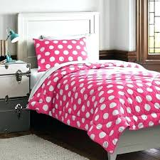 pink polka dots bedding comforter minimalist dorm room with cute white set blue metal delightful dot