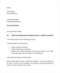 Terminate A Lease Letter End Of Lease Letter Template Landlord Notice To End Tenancy