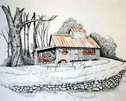 drawn barn farm landscape 5