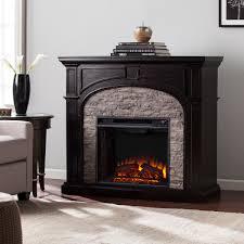45 75 tanaya electric fireplace ebony w gray stacked stone fe9620 fi9620