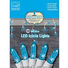 kringle bros blue m6 diamond cut led icicle lights 150 lights 9 5