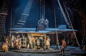 Elf the musical is the hilarious tale of buddy, a young orphan child who mistakenly crawls into santa's bag of gifts and is transported back to the north pole. Treasure Island National Theatre The Arts Desk