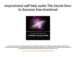 Inspirational Self Help Audio The Secret Door To Success Free Download Simple Inspirational Success Pics Download