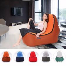 inflatable lounge furniture. Indoor \u0026 Outdoor Hangout Inflatable Air Lounge Sofa Chair Living Room Bean Bag Lounger Camping Hiking Furniture U