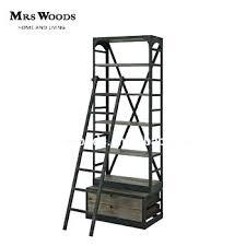 ladder shelving unit industrial ladder shelf industrial ladder bookshelf with drawer industrial style ladder shelving unit