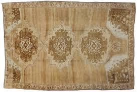 20th century mid century modern turkish kars oushak rug with warm earth tone colors