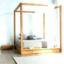 King Size Wood Canopy Bed Black Frame Medium Canop – ganamania.info