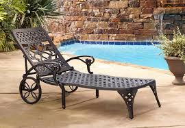 metal chaise lounge chairs. Amazon.com: Home Styles Biscayne Chaise Lounge Chair, Black: Garden \u0026 Outdoor Metal Chairs R