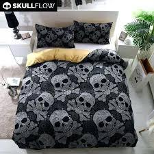 skull and bones bedding set black bohemian bones skull bedding set skull and bones bedding