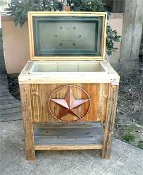 wooden outdoor cooler box plans ice chest wood rustic designs qt deck patio beverage stand cart rustic cooler barn wood sports outdoor