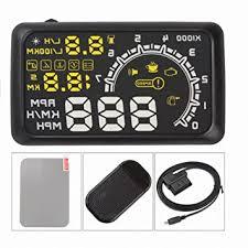 Plastic Screen <b>W02</b> Car HUD Head up Display OBD II Speed ...