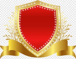 red shield badge gules shield badge