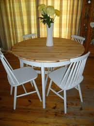 round pine dining table and chairs shabby chic solid pine round dining kitchen table 4 chairs