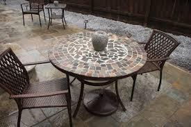 42 inch glass top patio table small round glass outdoor table mesh top patio table outdoor glass table top