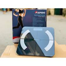Cân sức khỏe thông minh Rapido RSB02-S màu đen