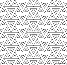 Vector modern seamless pattern triangles black and white textile