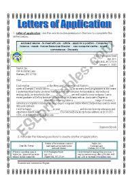 Letters Of Application Letters Of Application Exercises Esl Worksheet By Hekateros