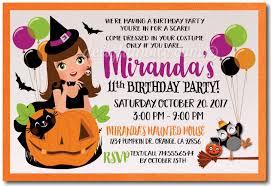Kid Friendly Halloween Birthday Invitations Halloween