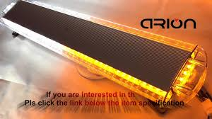 Amber And White Strobe Light Bar