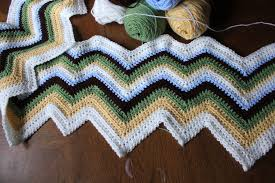 Zig Zag Crochet Pattern Magnificent Zigzag Afghan Pattern Crochet Blanket The Sweatshop Of Love Blog