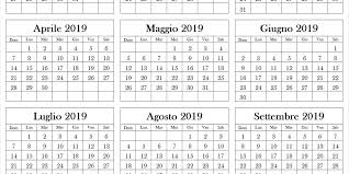 Calendario 2019 Da Stampare Calendario 2019 Pdf