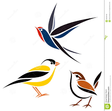 Fabric Painting Designs Of Birds Stylized Birds Stock Vector Illustration Of Graphic