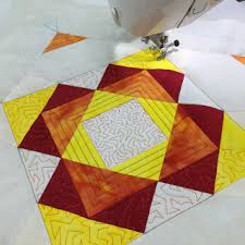 Machine Quilting Block Party block 11 is named Glitter star. http ... & Machine Quilting Block Party block 11 is named Glitter star.  http://freemotionquilting Adamdwight.com