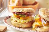 awesome breakfast bagel sandwich
