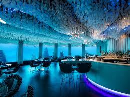 underwater hotel room at night. Maldives: Subsix At PER AQUUM Niyama Underwater Hotel Room Night W