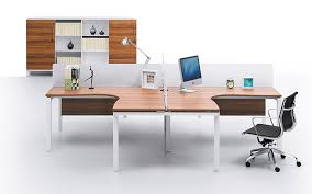 2 person wood topped workstation