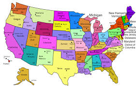 download map of america and canada with states major tourist best