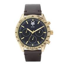 zoo york men s watches for jewelry watches jcpenney zoo york® mens brown and goldtone leather strap watch