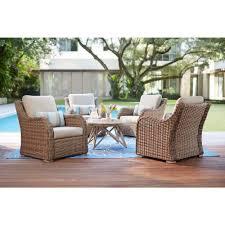 home decorators collection gwendolyn 5 piece wicker patio deep seating set with sunbrella cast ash