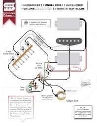 Wiring Diagrams For Split Humbuckers 1 Volume 1 Tone 2 Humbuckers Coil Split Wiring
