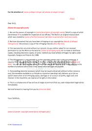 letter of claim template copyright infringement click to enlarge sample
