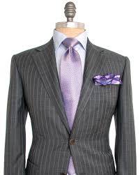 Light Grey Pinstripe Suit Combinations Canali Grey With Light Blue Stripe Suit Apparel Mens